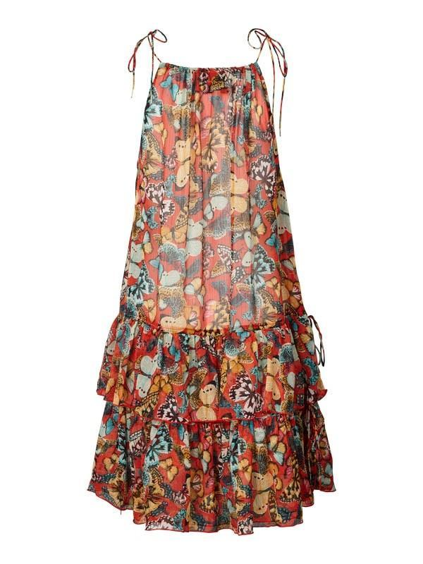 Lolly's Laundry Marissa Butterfly Dress in Red