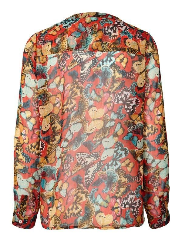 Lolly's Laundry Helena Butterfly Blouse in Red