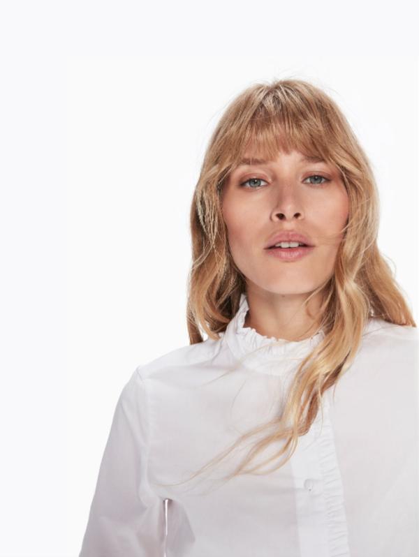 Maison Scotch Ruffle Shirt in White