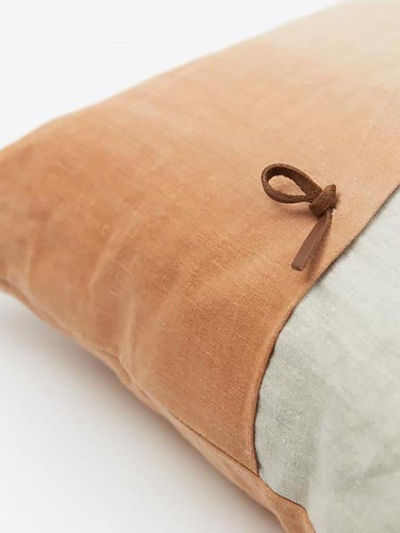 HAUSLER Margarete Häusler Linen Cushion in Orange