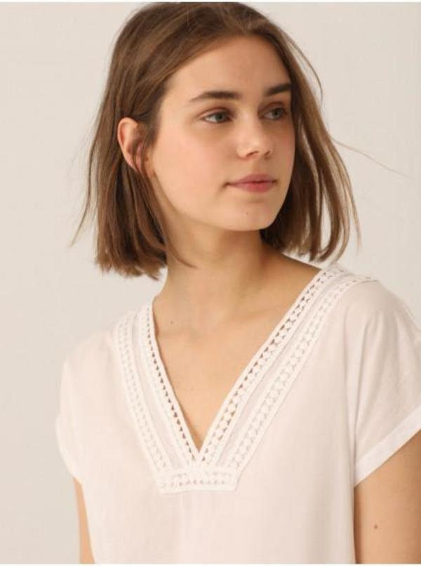 Nice Things Lace Neck Top
