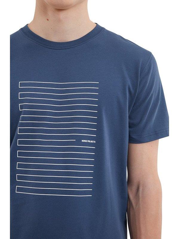 Norse Projects Niels Stripe Screen Logo T-Shirt
