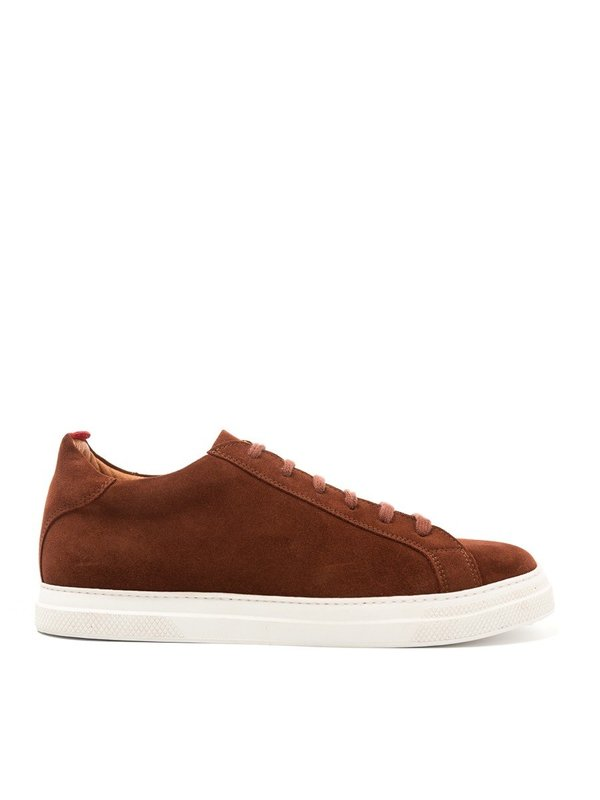 Oliver Spencer Ambleside Low-Top Suede Shoe in Rust