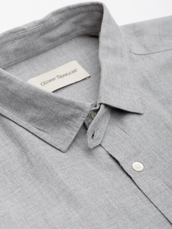 Oliver Spencer Clerkenwell Shirt in Clifton Grey