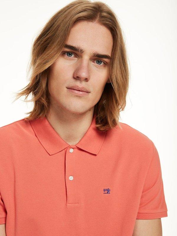 Scotch & Soda Classic Polo Shirt in Tangerine