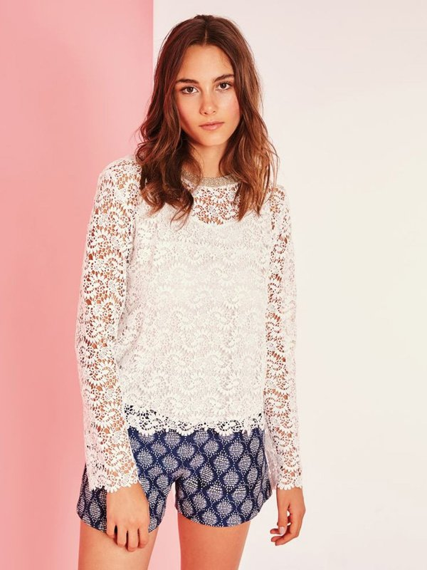 Suncoo Sophie Lace Sweater