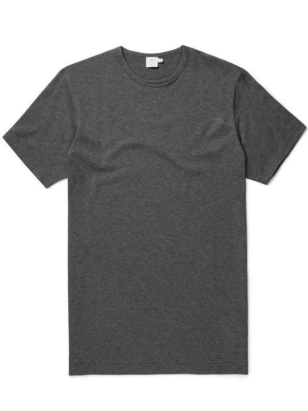 Sunspel Classic T-Shirt in Charcoal