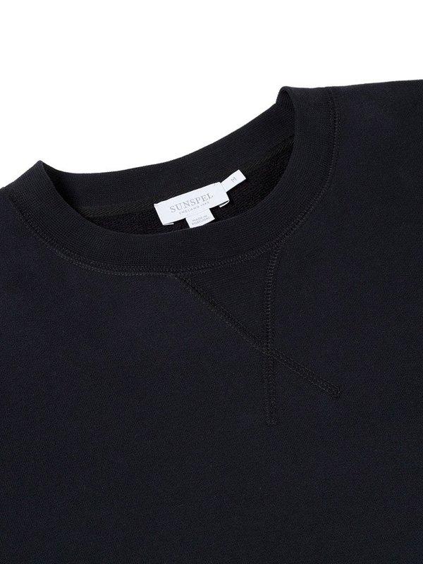 Sunspel Sweat Top in Black