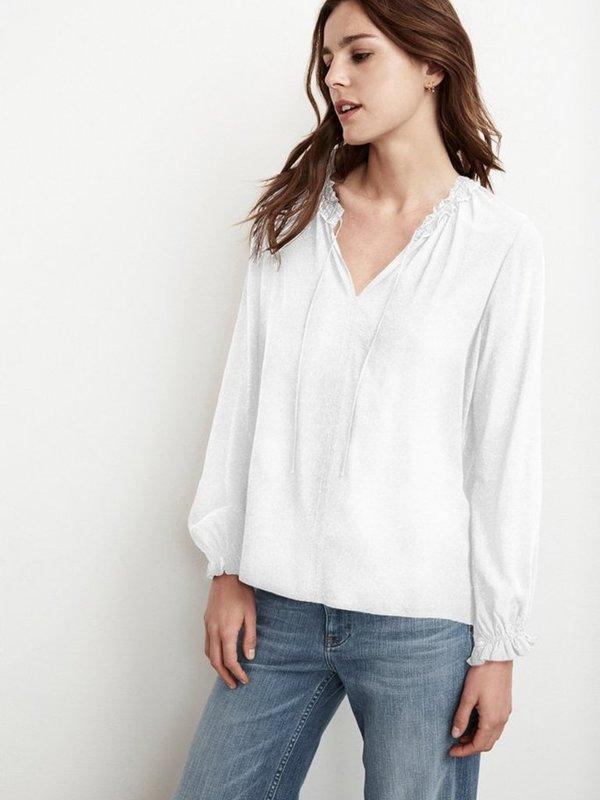 Velvet Samantha Shirt in White