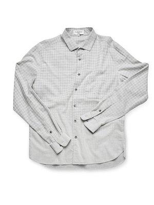 YMC Curtis Check Shirt in Light Grey