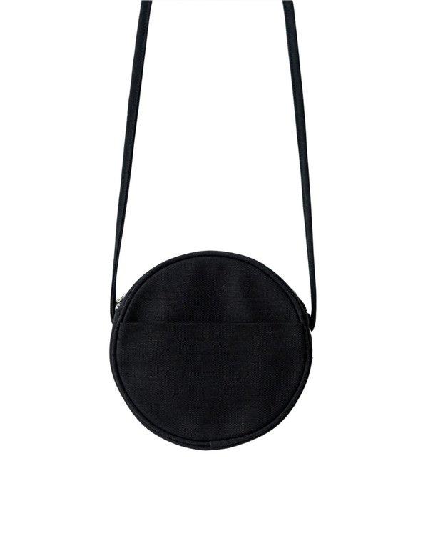 BAGGU CANVAS CIRCLE PURSE - BLACK