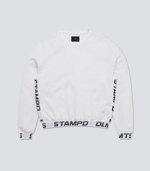 Stampd DRIVE SWEATSHIRT - WHITE