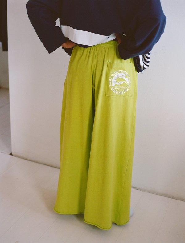 OffSeasonNYC Omiyage Lounge Pant - Citron Knit Jersey