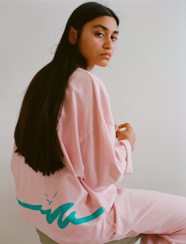 OffSeasonNYC Token Pull Over - Dusty Pink Knit Jersey