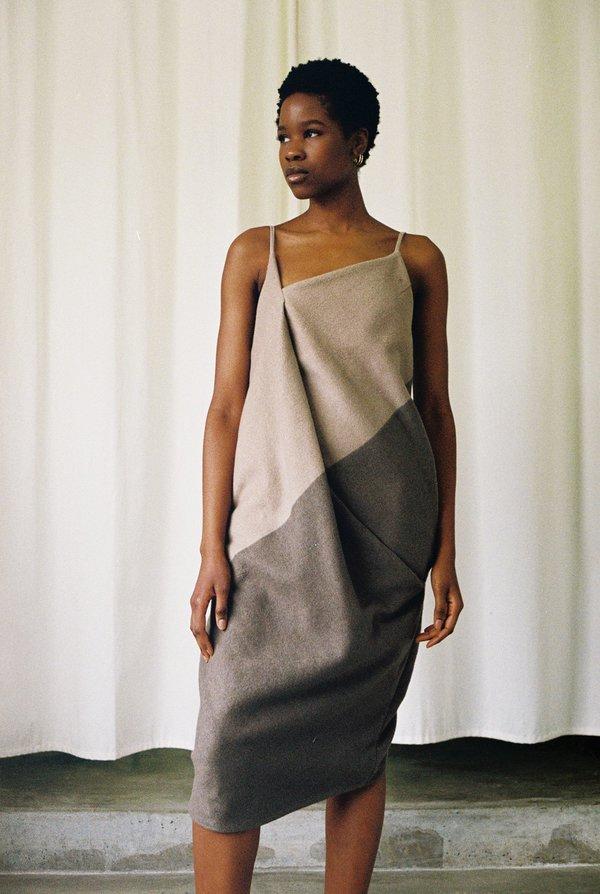 Omondi Two Tone Cashmere Dress