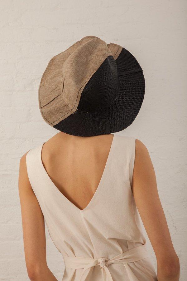 Reinhard Plank Jute & Paper Hat - Black/Natural