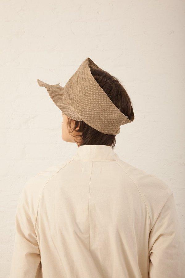 Reinhard Plank Jute Textile Visor - Camel