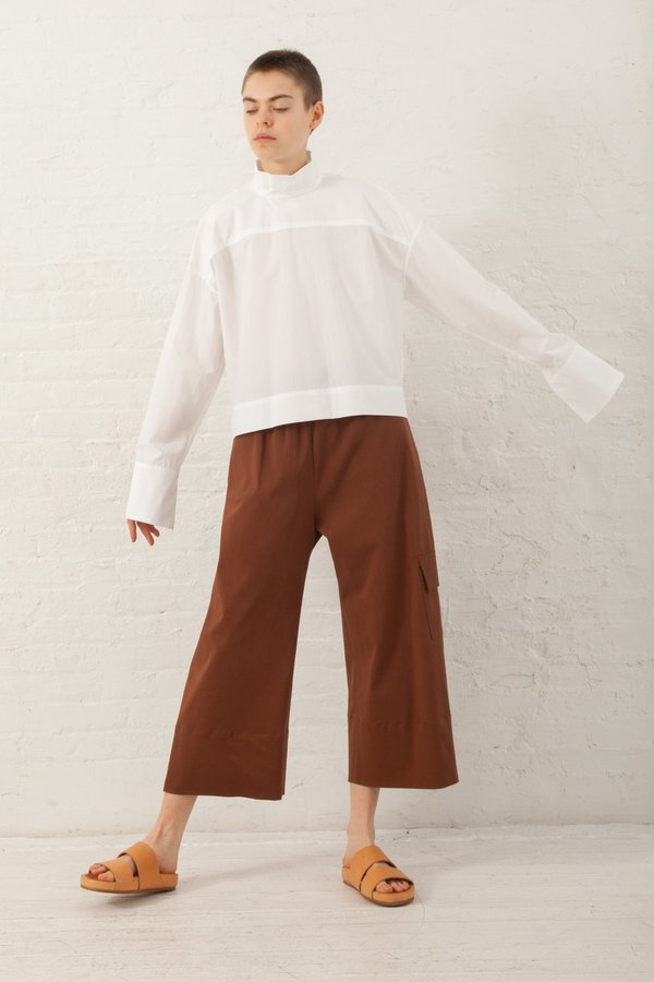 Nomia Oversize Mockneck Shirt in White