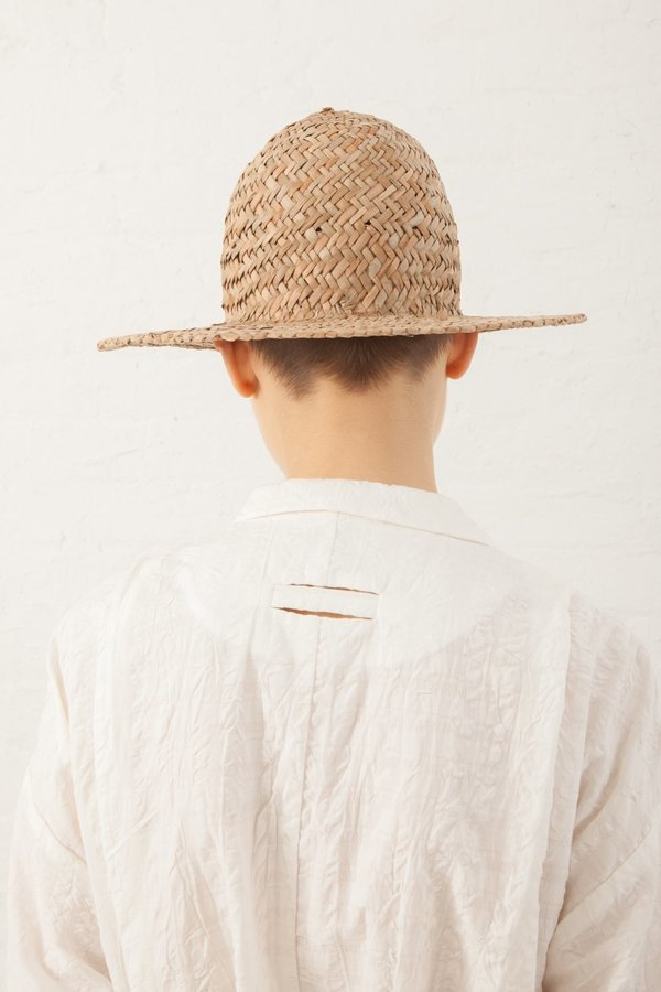 Natures of Conflict Straw Cone Hat - Natural
