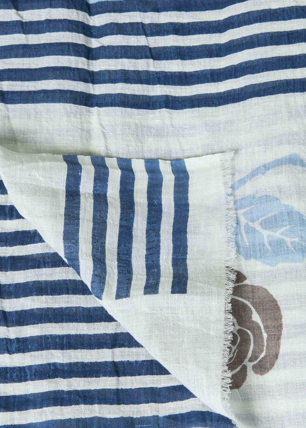 Epice Bay Stripe Scarf - Sky Blue