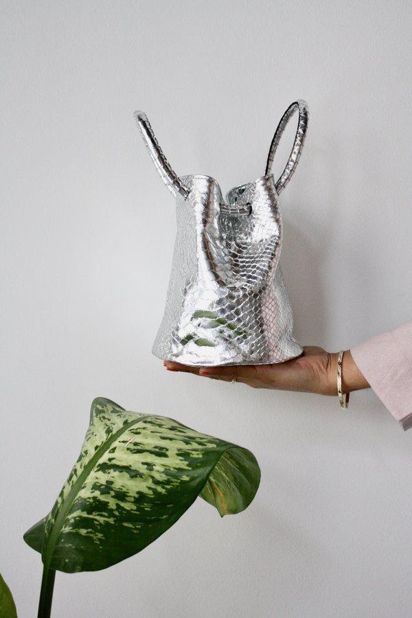 CAB Collection Jane bracelet bag - mirror croc