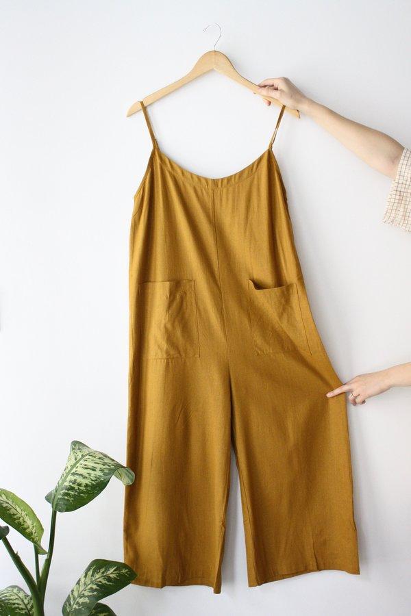 Ali Golden Jumper W/ Patch Pockets