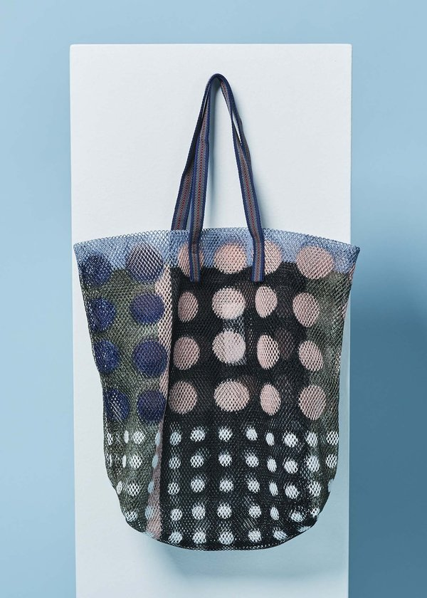 Epice Large Colorblock Dot Tote - Drab/Multi