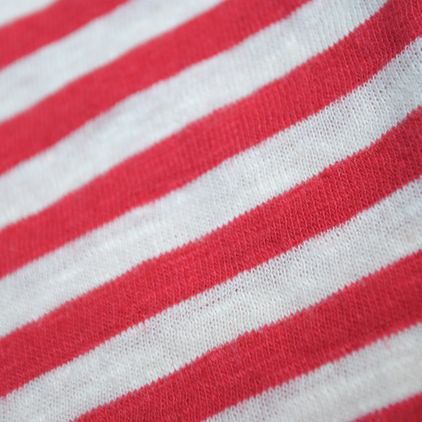 Cotton/Linen Mariniere, Nature / Red