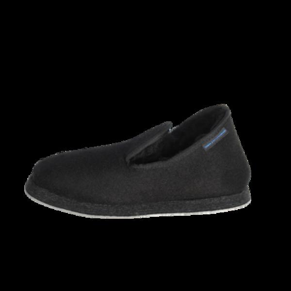 Armor Lux Handmade Wool Slippers, Black