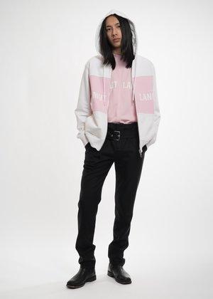 Helmut Lang Pink Panel Campaign Zip Hoodie