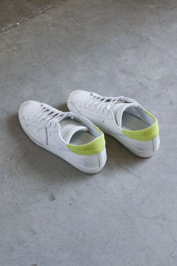 Philippe Model Paris Sneakers in White/Yellow