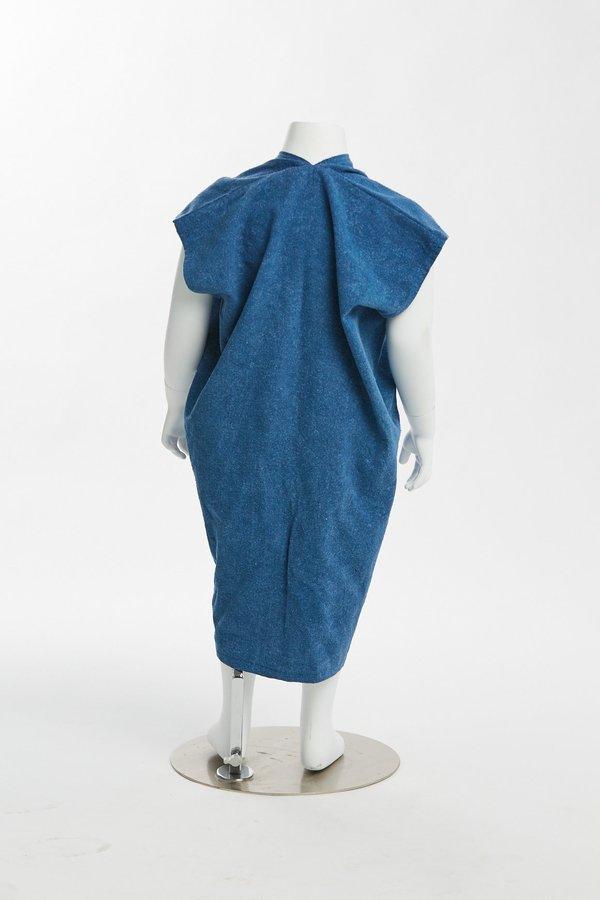 Kids Miranda Bennett Zero Waste Everyday Dress - Silk Noil in Indigo