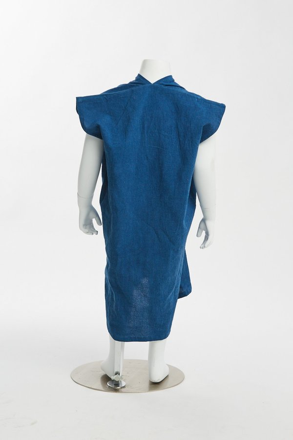 Kids Miranda Bennett Zero Waste Everyday Dress - Textured Cotton in Indigo
