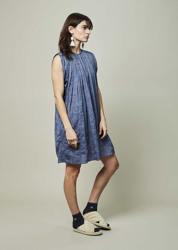 Nico Marfa Gathered Dress - Indigo