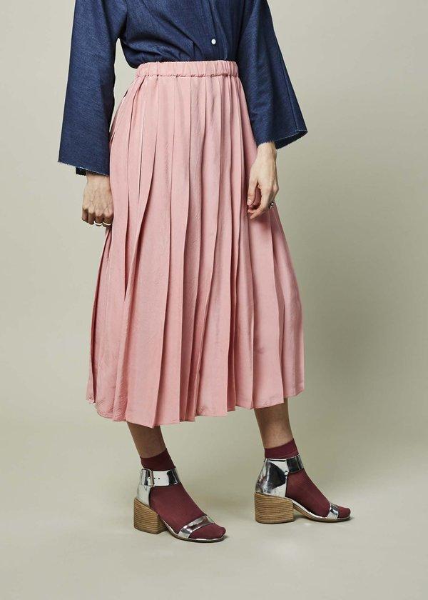 Sara Lanzi Viscose Pleated Skirt - Pink