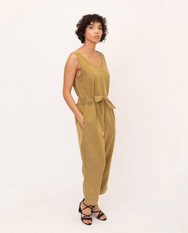beaumont organic Margaret Modal Jumpsuit in khaki