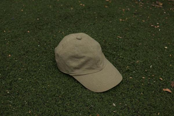 Colorant natural dyed fitted Cap 100% raw silk vetiver