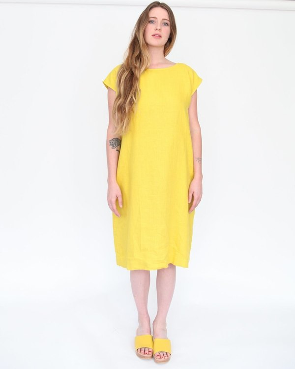 Esby Malia Reversible Shift Dress - curry