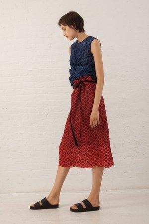 Hache Polka Dot Skirt - Red/Black