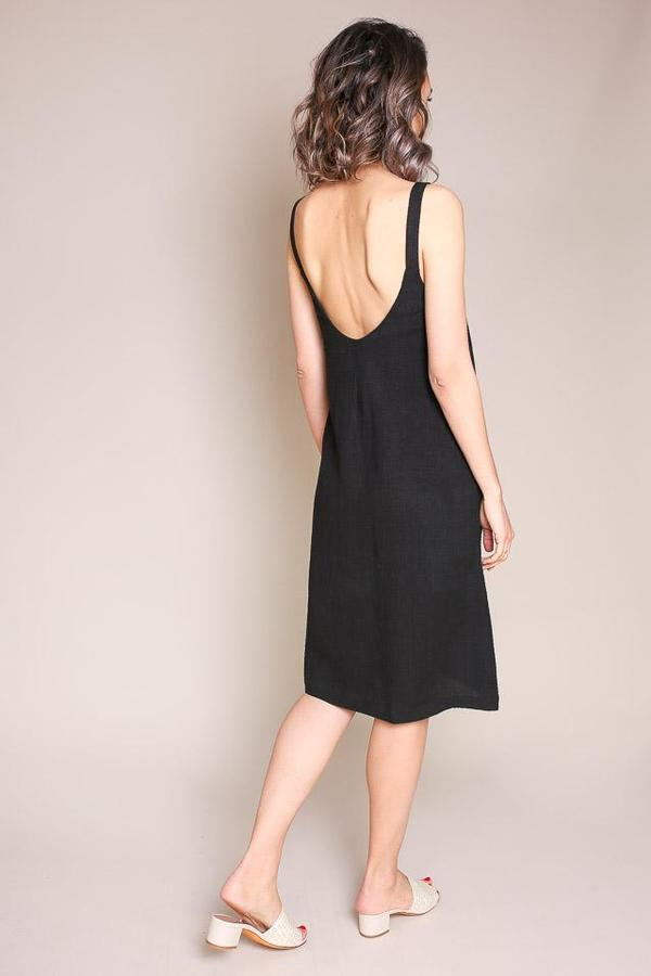 First Rite Dip Dress in Black