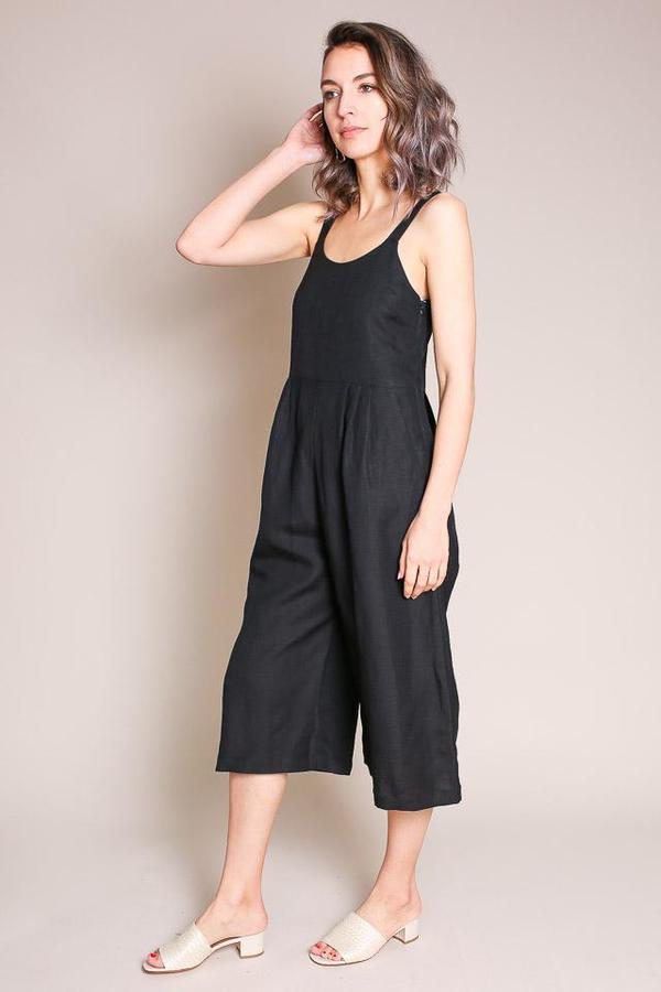 First Rite Dip Pantsuit in Black