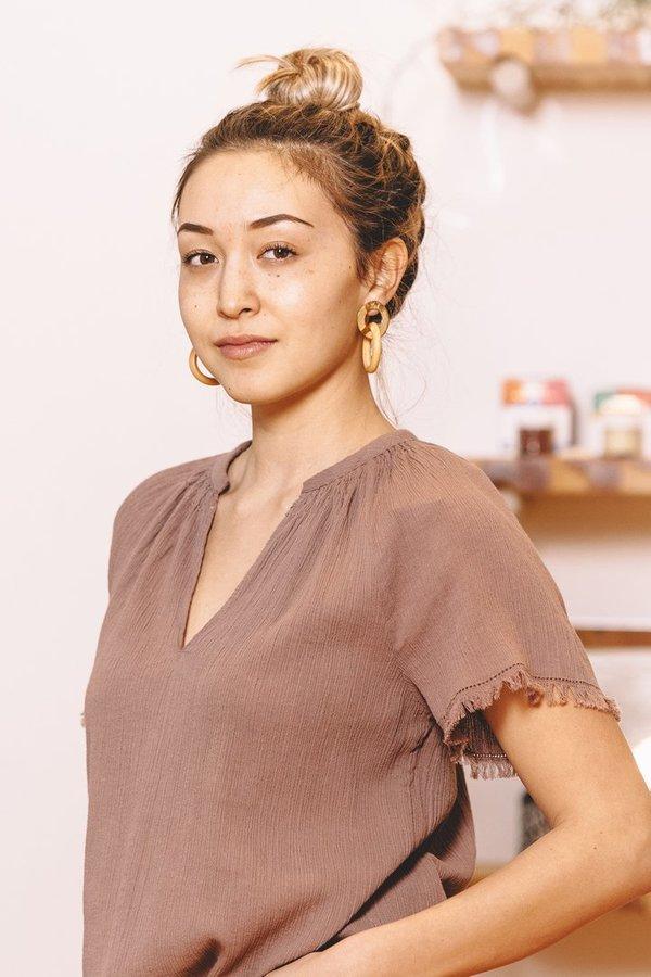 Voloshin Rosalia Top - Cafe Mocha