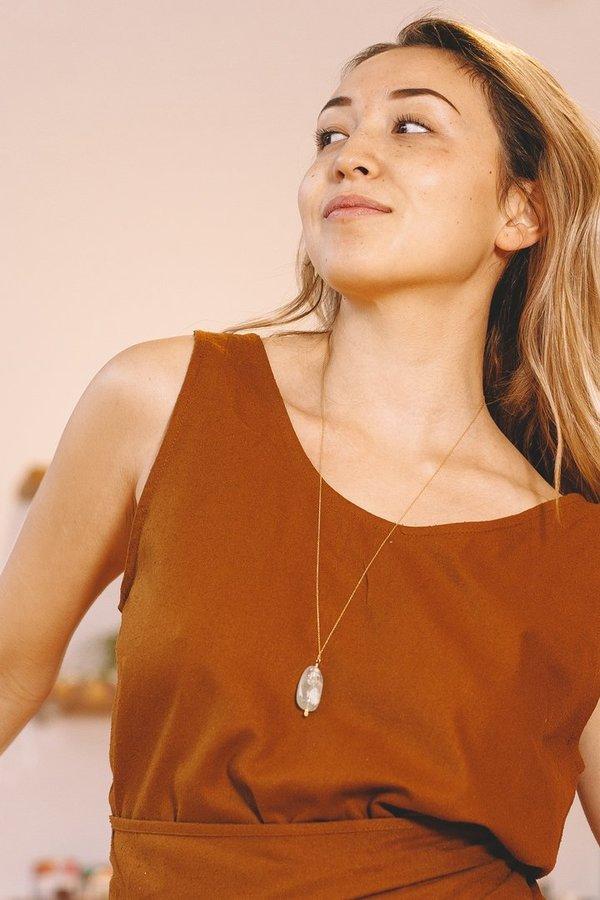 "Mary MacGill Stone Drop Necklace - 28"""