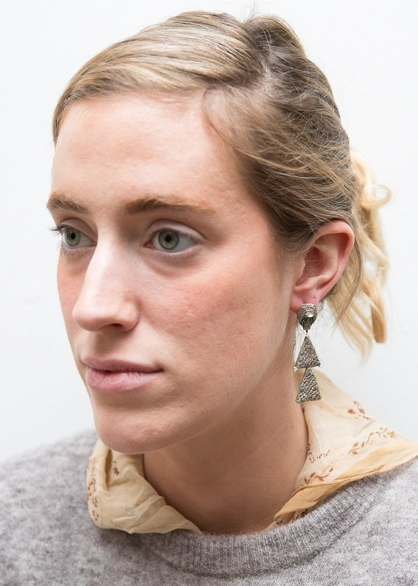 Nani Haveli Large Embroidery Earring - 1
