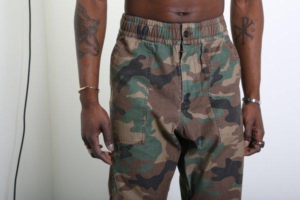 Maiden Noir Military Camo Trouser