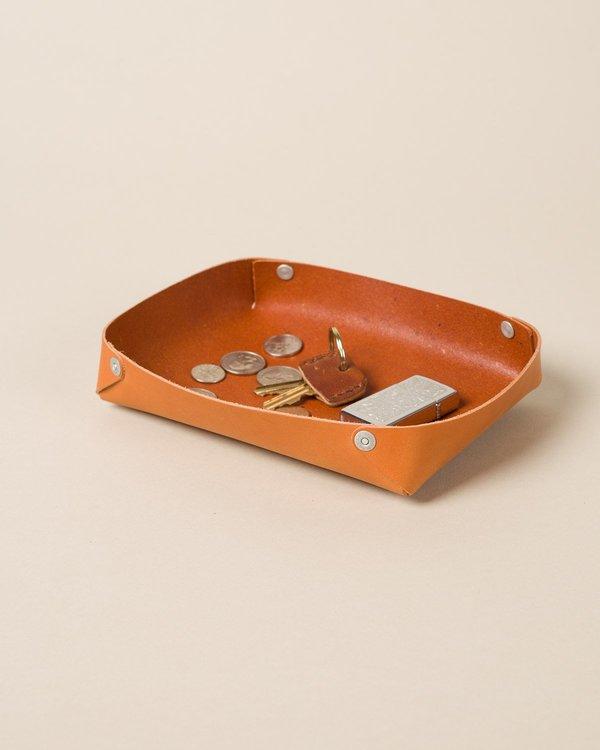 Leather Nesting Trays, Tan