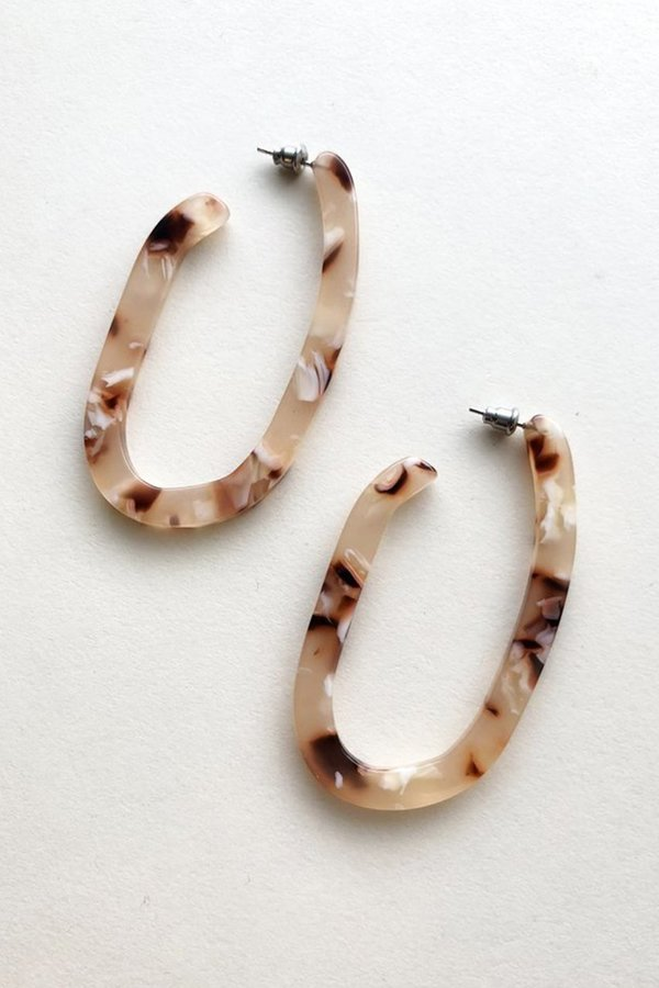 Machete Margot Hoop Earring - Blush
