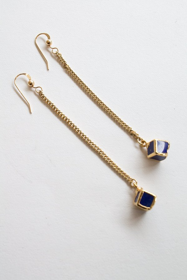 Sheila B Lapis Chainmaille Earring