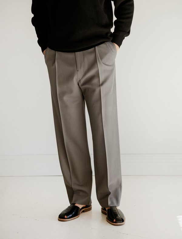 Lemaire Two Pleated Pants - Grey