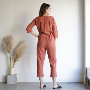 Hackwith Design House Painter Drawstring Jumper - Baked Clay